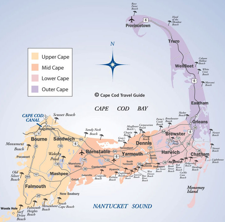 Cape Cod Beaches Map