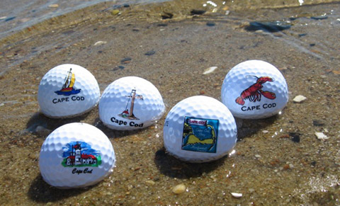 golf balls in ocean