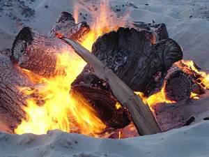 beach fire