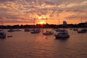 sunset provincetown harbor